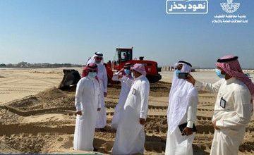 صورة المهندس الحسيني يتفقد مخطط النسيم والبلدية تهيء المحاور الرئيسية