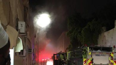 صورة سيهات : حريق في أحد المنازل في الطابوق